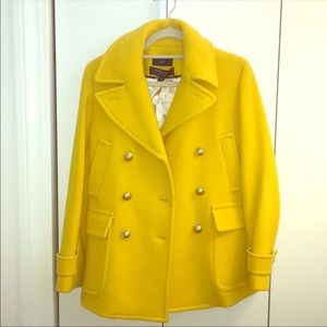 J. Crew Yellow Pea Coat